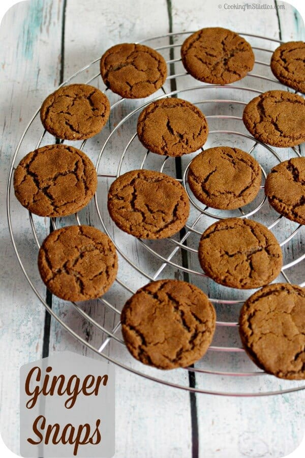 Ginger Snaps | Cooking In Stilettos
