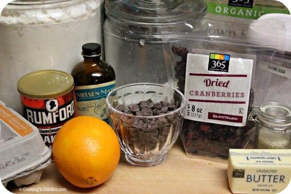 Orange Cranberry Chocolate Chip Cookies - Ingredients | Cooking In Stilettos