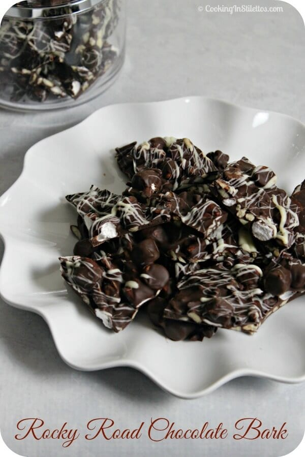 Rocky Road Chocolate Bark | Cooking In Stilettos