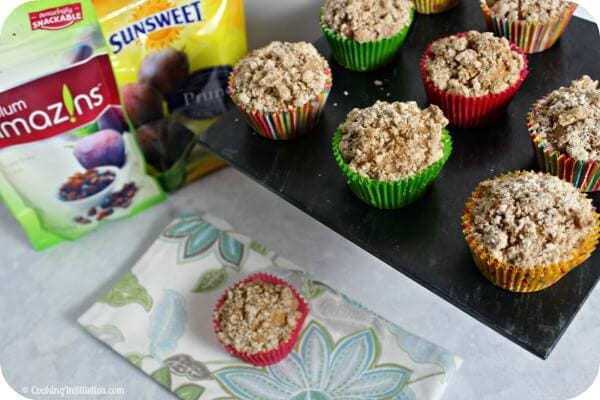 Spiced Dried Plum Streusel Muffins | Cooking In Stilettos