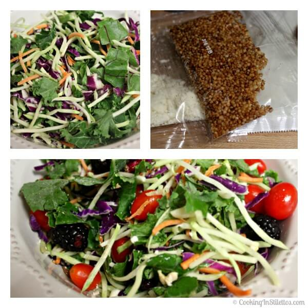 Wild Greens and Quinoa Salad with Baked Lemon Chicken - Salad Assembly   Cooking In Stilettos