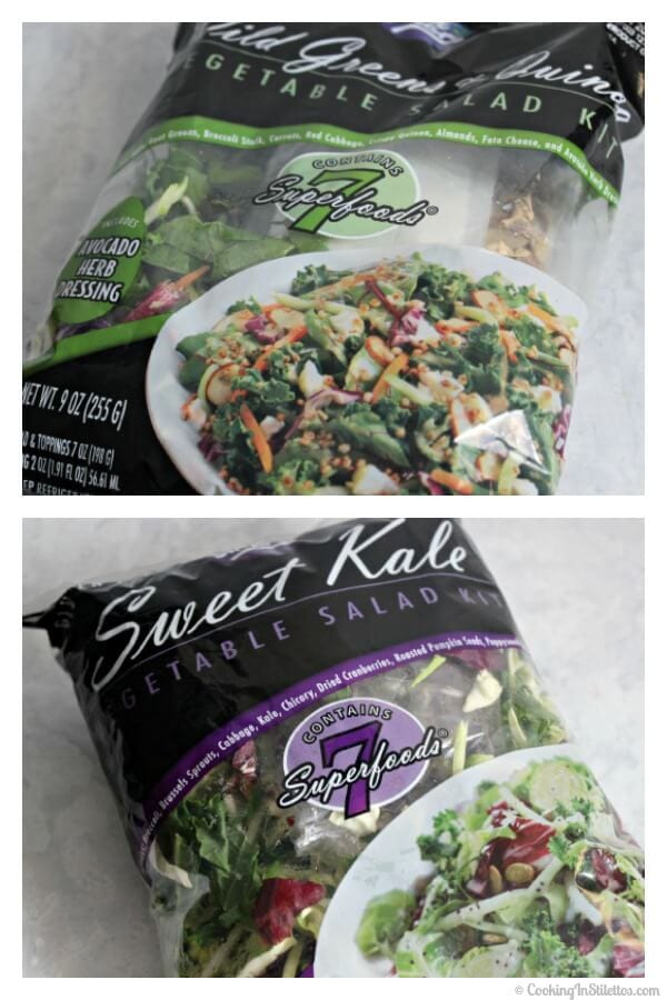 Wild Greens and Quinoa Salad with Baked Lemon Chicken - Eat Smart Salad Kits | Cooking In Stilettos