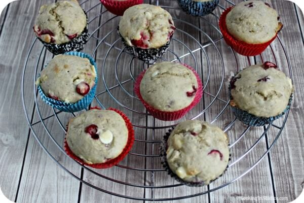 Banana Cranberry White Chocolate Muffins   Cooking In Stilettos