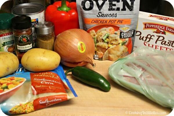 Mini Southwestern Chicken Pot Pie - Ingredients | Cooking In Stilettos
