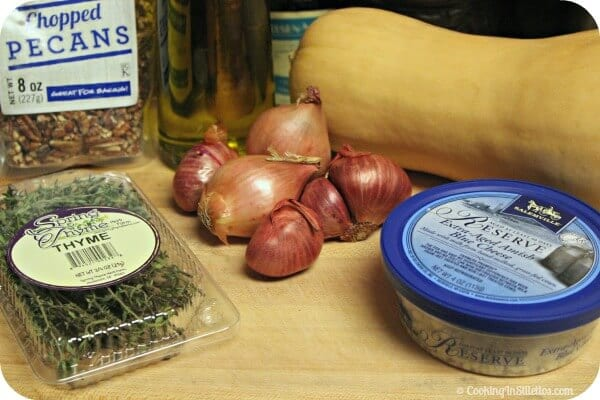 Roasted Butternut Squash with Pecans, Shallots & Blue Cheese - Ingredients   CookingInStilettos.com