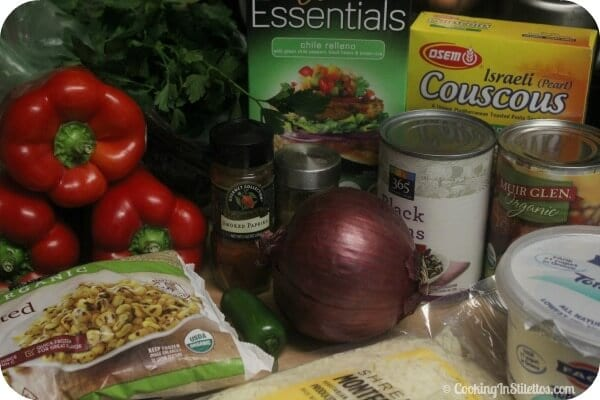 Veggie Southwestern Stuffed Peppers - Ingredients | Cooking In Stilettos