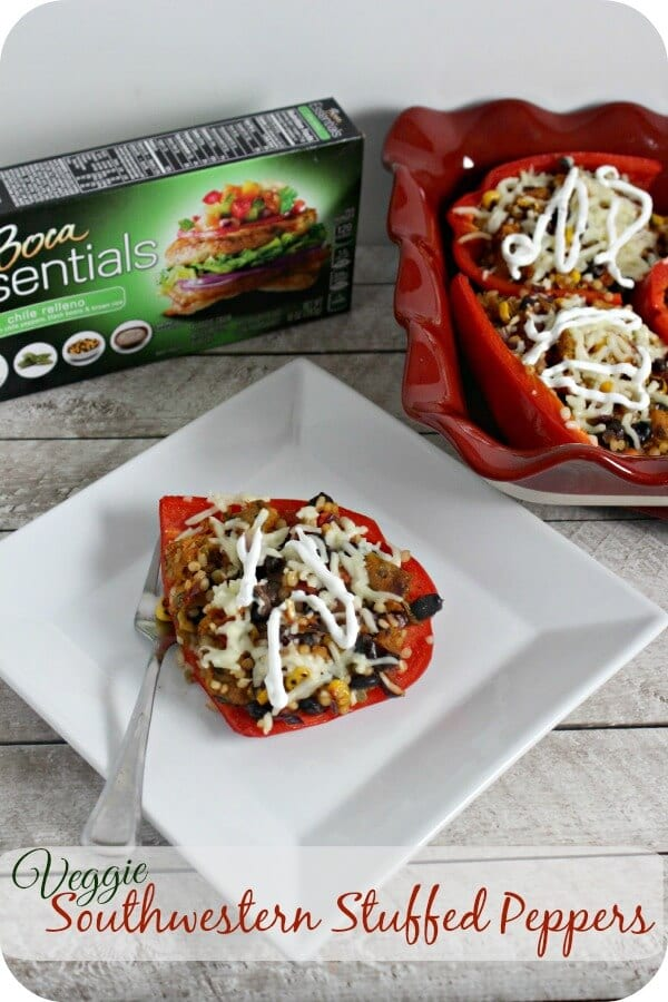 Veggie Southwestern Stuffed Peppers | Cooking In Stilettos