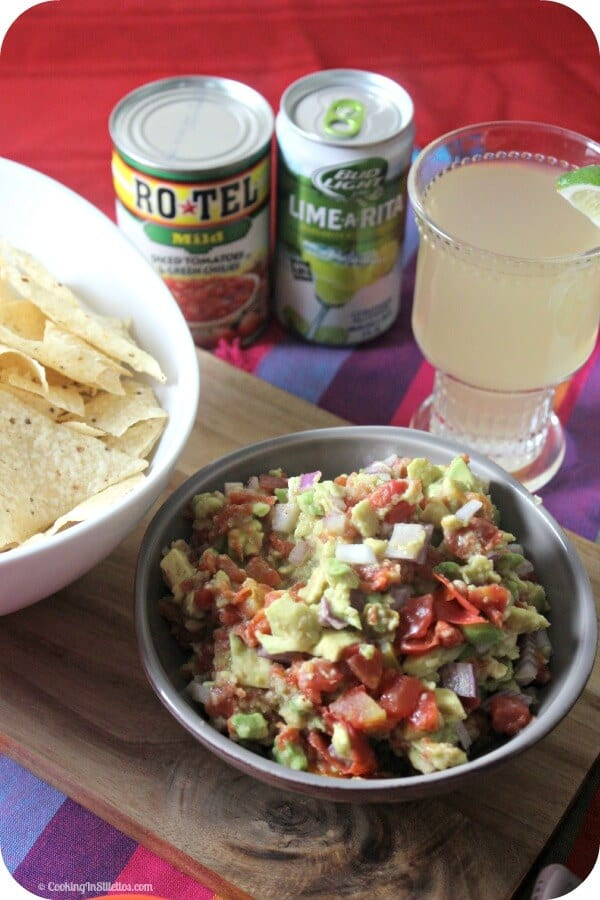 RO*TEL's Rockin' Guac and Bud Light Lime-A-Ritas - a Perfect Pairing | Cooking In Stilettos