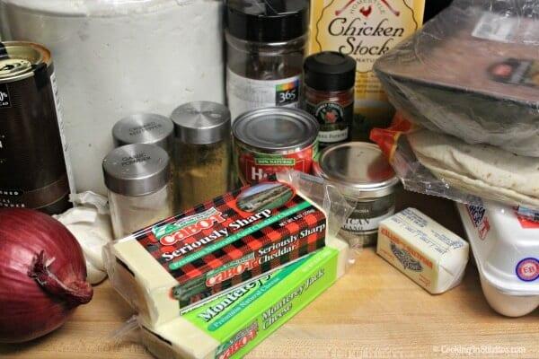 Breakfast Enchiladas with Homemade Enchilada Sauce - Ingredients | Cooking In Stilettos