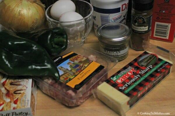Chile Relleno Quiche - Ingredients   Cooking In Stilettos