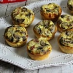 Quiche Made Chic – Mini Pancetta Mushroom Quiche #TimetoBelieve #CleverGirls