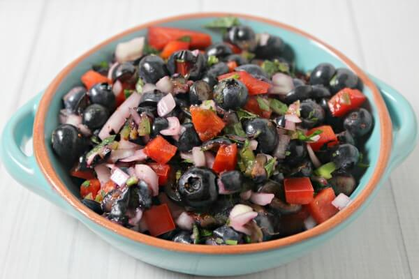 Blueberry Basil Salsa | Cooking In Stilettos