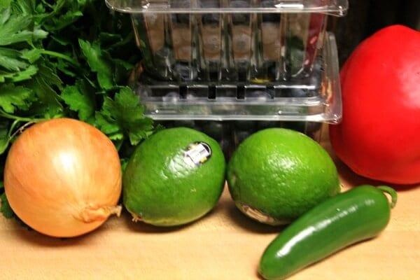 Blueberry Basil Salsa - Ingredients   Cooking In Stilettos