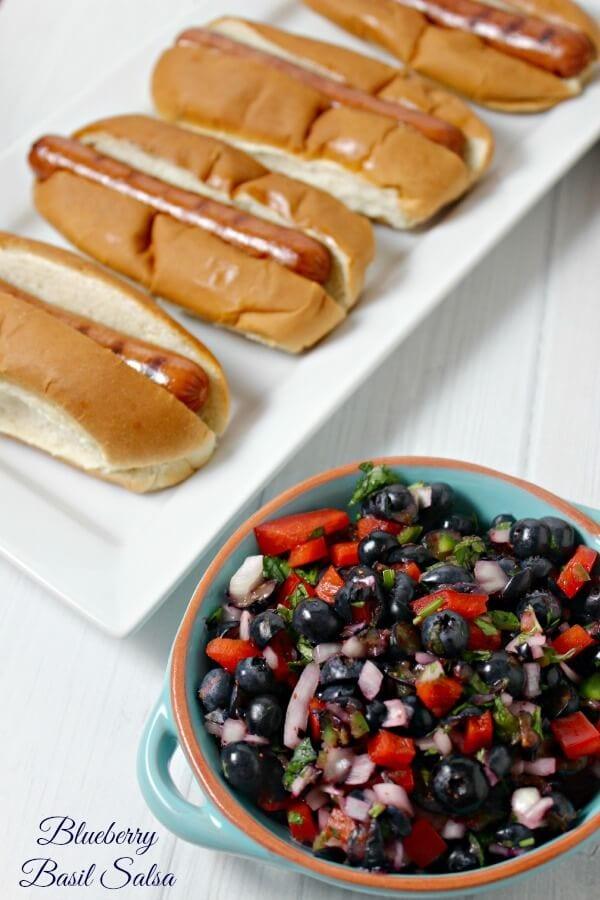 Blueberry Basil Salsa   Cooking In Stilettos