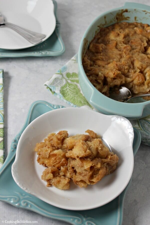 Caramel Croissant Bread Pudding | Cooking In Stilettos