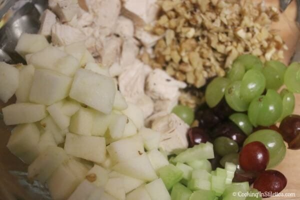Chicken Waldorf Salad - Everything Chopped and Ready | CookingInStilettos.com