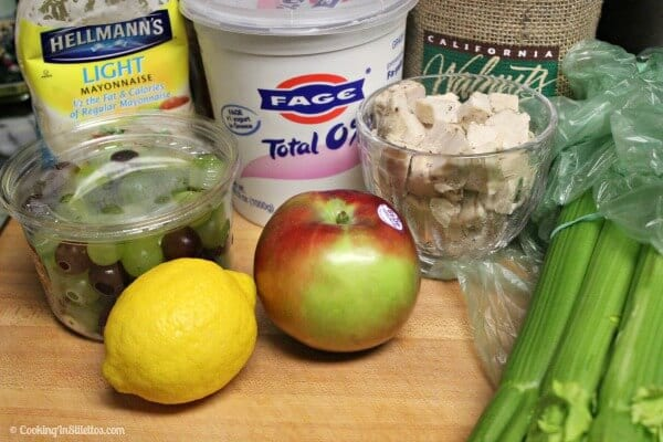 Chicken Waldorf Salad - Ingredients | CookingInStilettos.com