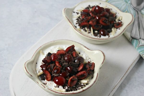 Chocolate Cherry Almond Bowl | Cooking In Stilettos