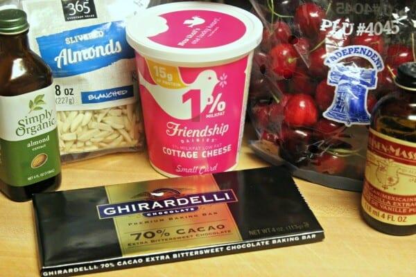 Chocolate Cherry Almond Bowl - Ingredients   Cooking In Stilettos