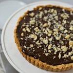 Gluten Free Chocolate Caramel Tart with Macadamia Nut Crust #BobsHolidayCheer