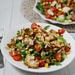 Grilled Southwestern Chicken Salad #BloggerClue