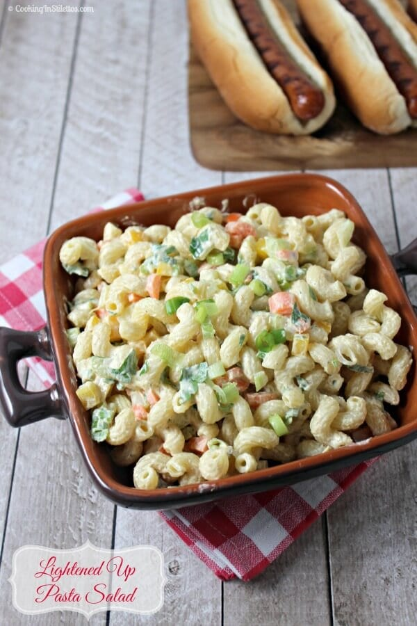 Lightened Up Pasta Salad | Cooking In Stilettos
