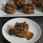 Mini Spiced Rum Raisin Bread Pudding with Spiced Rum Syrup For The #HolidayTable
