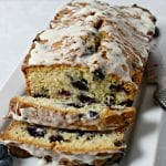 Blueberries and Cream Quick Bread | CookingInStilettos.com