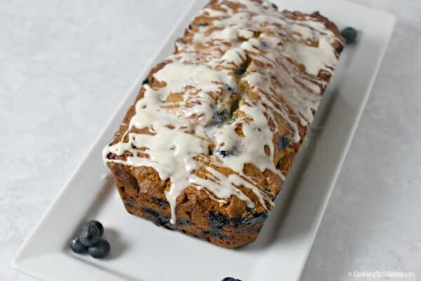 Blueberries and Cream Quick Bread | CookingInStilettos.com