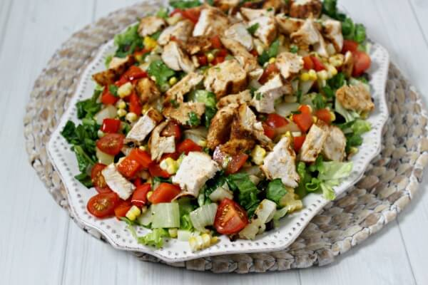 Grilled Southwestern Chicken Salad | Cooking In Stilettos