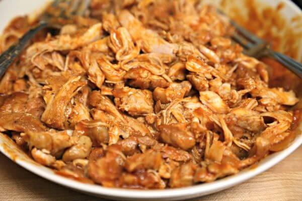 BBQ Pulled Chicken BLT Sandwich - Easy Pulled Chicken   Cooking In Stilettos