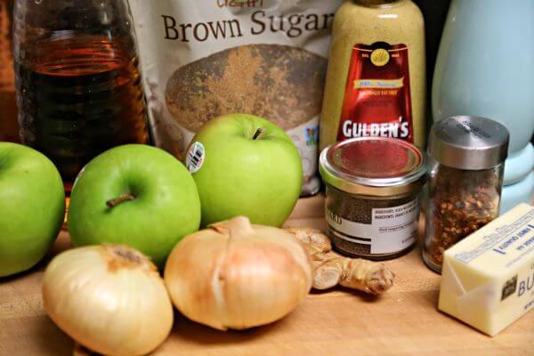 Easy Mustard Apple Chutney - Ingredients | Cooking In Stilettos