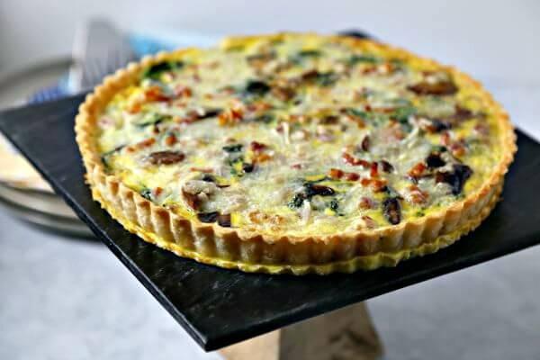 Smoky Pancetta Quiche | Cooking In Stilettos
