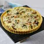 Weekend Brunch: Smoky Pancetta Quiche #BaconMonth