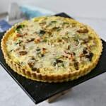 Smoky Pancetta Quiche | CookingInStilettos.com