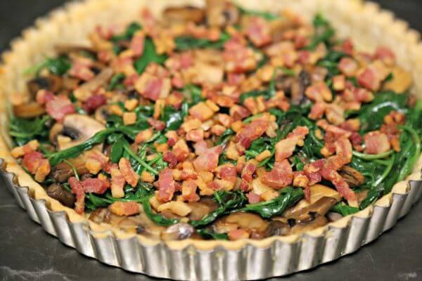 Smoky Pancetta Quiche - Filled to the Brim | Cooking In Stilettos