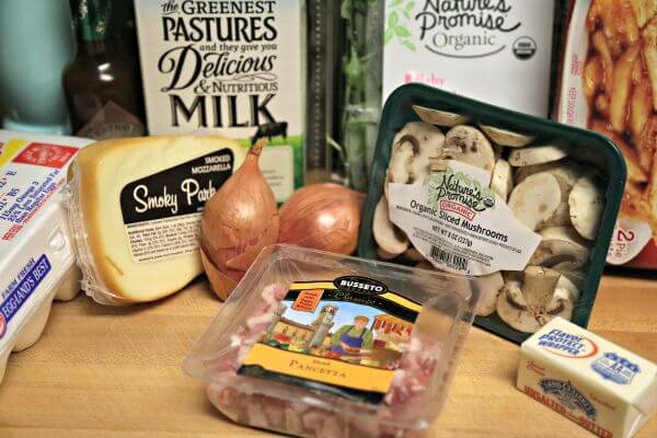 Smoky Pancetta Quiche - Ingredients | CookingInStilettos.com