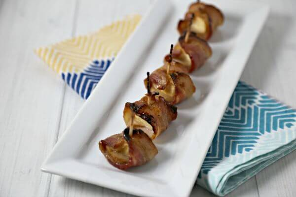 Bacon Wrapped Pineapple Bites   Cooking In Stilettos