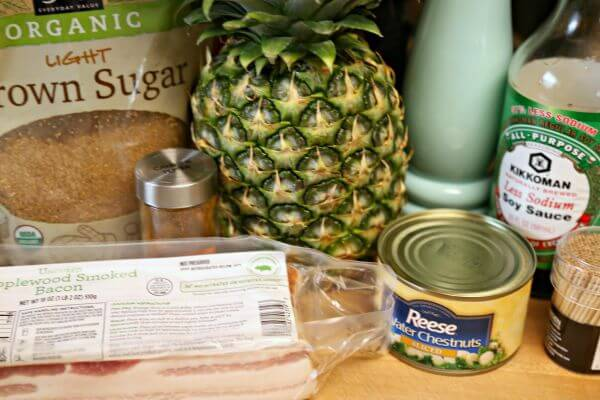 Bacon Wrapped Pineapple Bites - Ingredients   Cooking In Stilettos