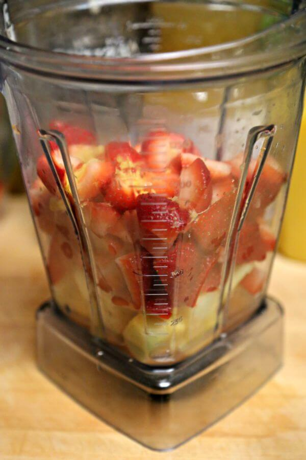 Sweet Strawberry Rum Punch - Ready to Blend  | Cooking In Stilettos