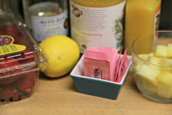Sweet Strawberry Rum Punch - Ingredients | Cooking In Stilettos