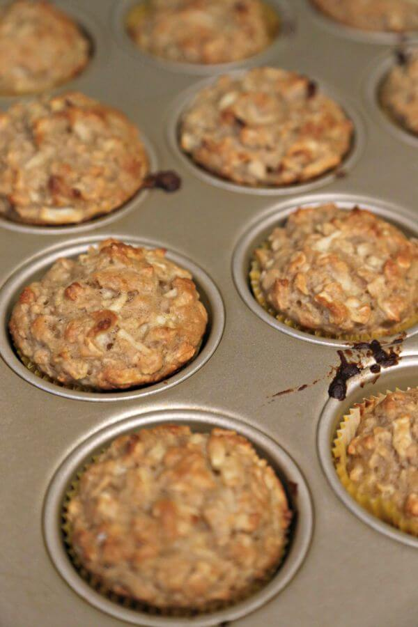 Apple Oatmeal Muffins - Fresh Out of the Oven | CookingInStilettos.com