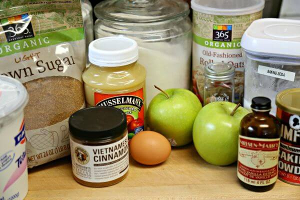 Apple Oatmeal Muffins - Ingredients | CookingInStilettos.com
