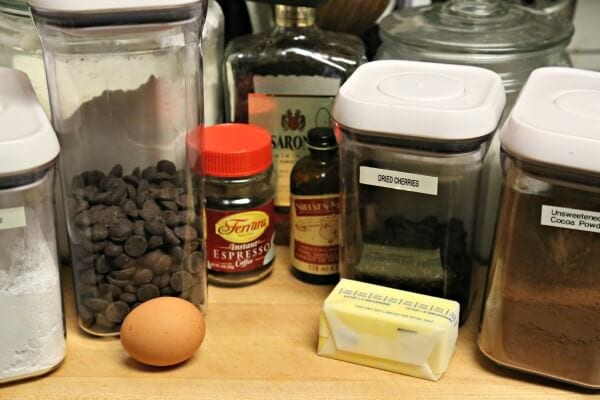 Boozy Black Forest Cookies - Ingredients | Cooking In Stilettos