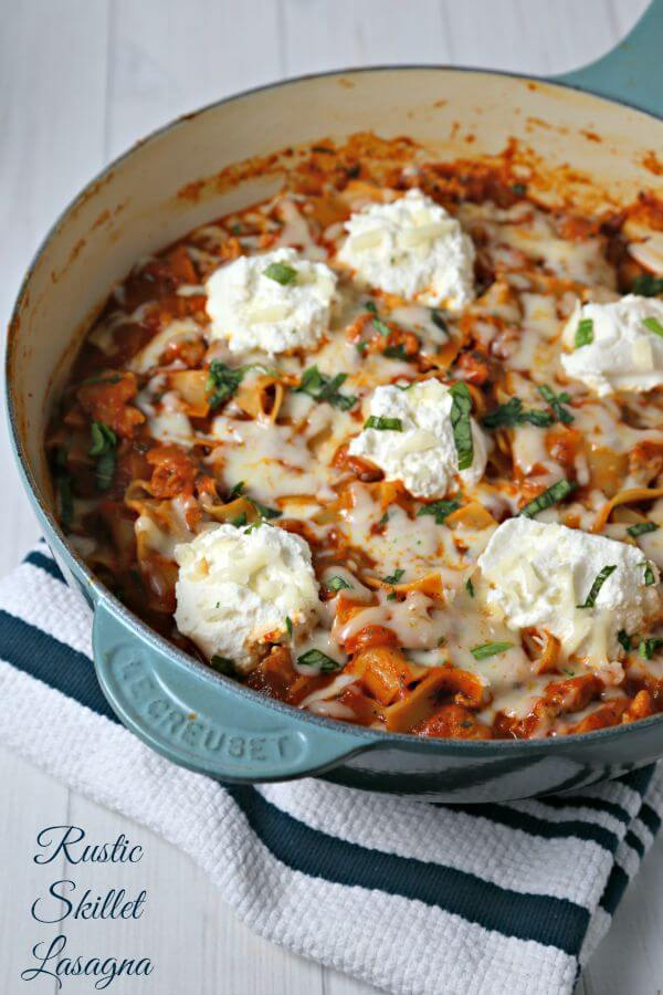 Rustic Skillet Lasagna – Easy Dinner Ideas With #PregoSauce