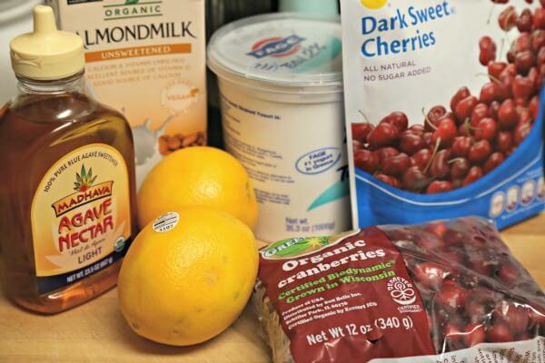 Cranberry Cherry Smoothie - Ingredients   CookingInStilettos.com