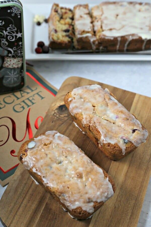 Double Chocolate Cranberry Bread | CookingInStilettos.com