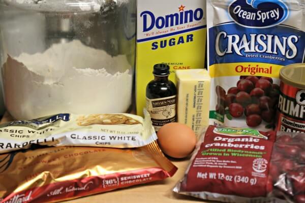 Double Chocolate Cranberry Bread - Ingredients | CookingInStilettos.com