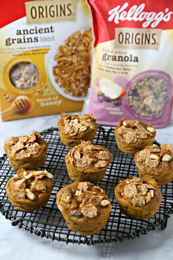 Harvest Crunch Muffins | CookingInStilettos.com