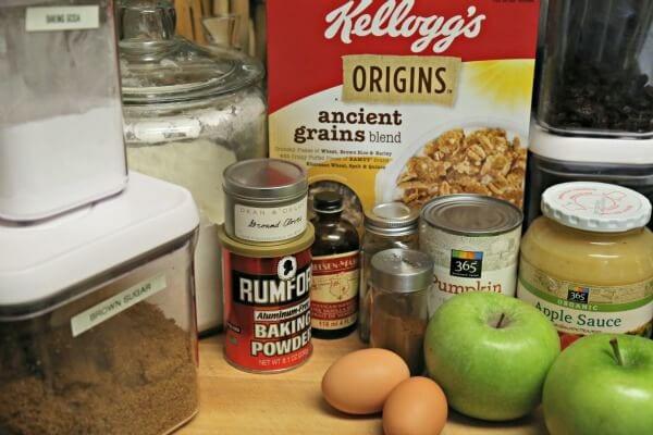 Harvest Crunch Muffins - Ingredients | CookingInStilettos.com